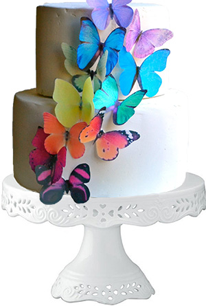 Butterfly baby shower cupcake and cake decorating ideas decorated