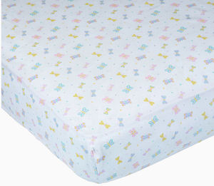 Carters fitted butterfly crib sheet