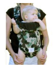 Camo baby carrier in green realtree Mossy Oak fabric