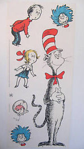 cat in the hat dr seuss wall decals art stickers clings quotes