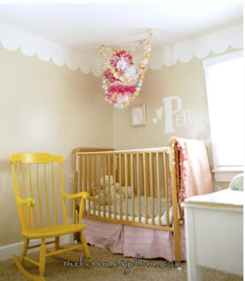 Chic Baby Girl Pink and Yellow Nursery