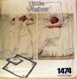 little vogue vintage christening gown sewing pattern
