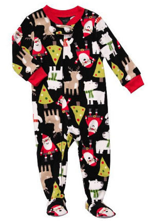 Carters footed baby Christmas sleeper pajamas for a baby boy