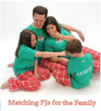 Matching Christmas pajamas for baby and the entire family