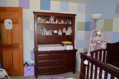 Color Block Baby Animal Nursery Including Shades of Lavender to complement the Cocalo Jacana bedding set