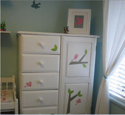 Piper's Bird Themed Nursery Armoire