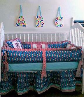 DIY Dr Seuss nursery wall art and custom Cat in the Hat Baby Crib Bedding Set
