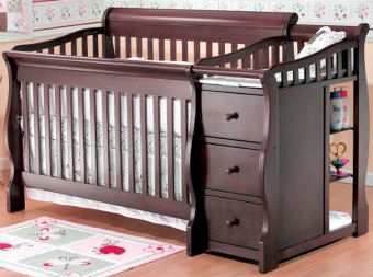 Baby crib changing table combo