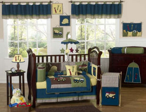 big trucks dump truck construction theme nursery baby bedding set