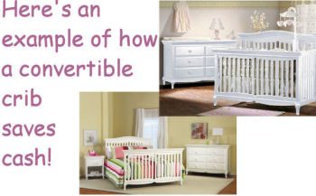 Convertible baby crib converted into adult size furniture