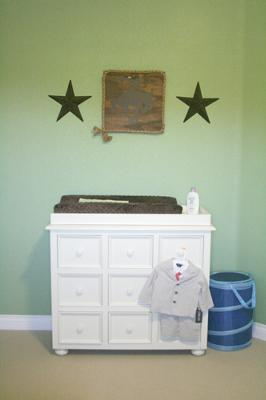 Classy Cowboy Baby Nursery Decor with a Black and Green Western Color Scheme