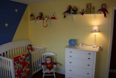 Curious George The Astronaut Nursery Wall Decor