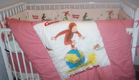 curious george bedding crib bedding nursery theme baby stuff gifts