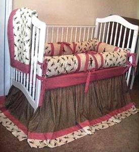 Custom sock monkey baby bedding fabric selections