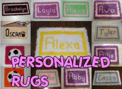 personalized custom monogram rugs monogrammed kids names