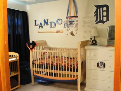 Detroit Tigers Baby Baseball Nursery Decor