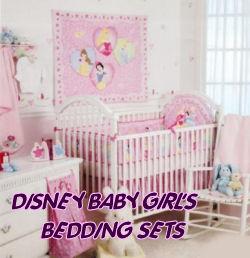 Disney baby nursery crib bedding sets.  Disneyworld theme nursery bedding and decor