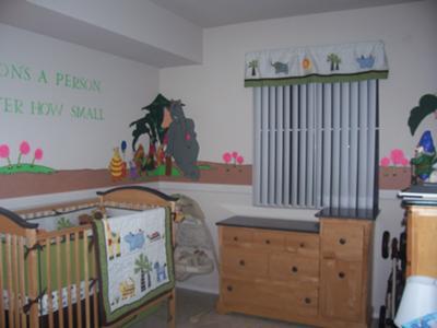 Dr. Seuss Decor Horton Hears a Who Baby Nursery Theme Wall Mural