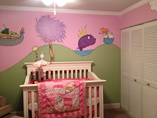Our baby girl's nursery theme is based on the Dr Seuss quote