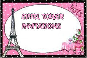 eiffel tower baby shower invitation bridal parisian paris pink and black