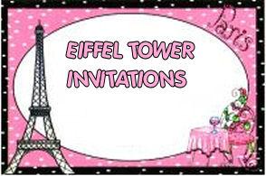 eiffel tower baby shower invitation bridal parisian paris pink and black