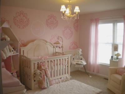 The Baby's Crib and Personalized Jeweled Tree Wall Decal
