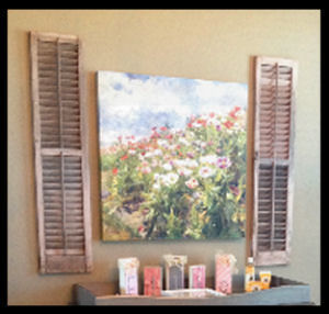 100 Year old antique wooden shutters in a vintage baby girl nursery