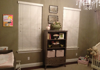 Ellie's nursery displays many items made with love by talented friends and relatives