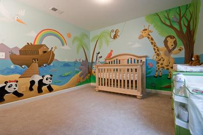 Emma's Ark and Jungle Nursery Wall Mural