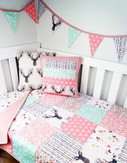 enchanted forest theme baby nursery crib bedding