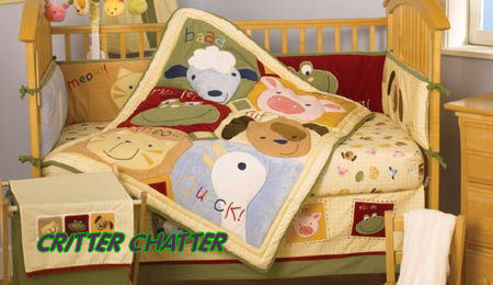 farm nursery theme baby crib bedding sets animals cows pigs ducks lambs lamb pig duck goose
