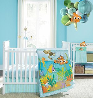 finding nemo tropical fish ocean theme nursery baby bedding set