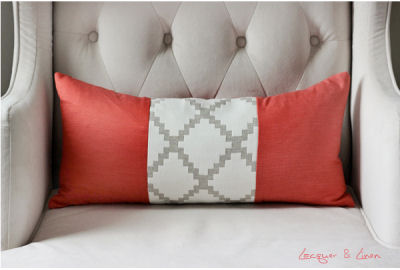 DIY lumbar pillow for the nursery rocking chair