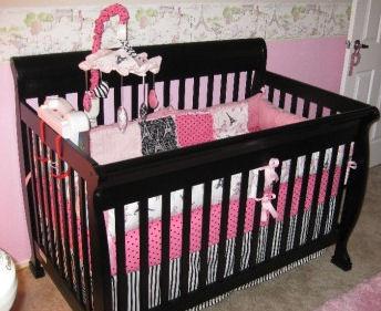 french parisian fleur de lis baby bedding set nursery decor ideas picture
