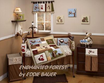 owl baby bedding fox crib forest theme nursery set