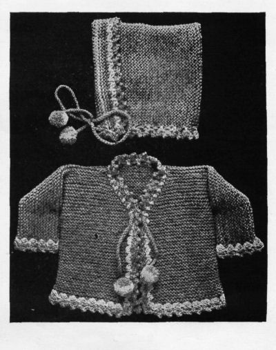 baby sweater knit pattern with hat