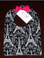 eiffel tower baby shower gift set bib burp cloth pink and black