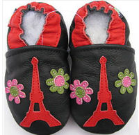 eiffel tower baby shower gift crib shoes