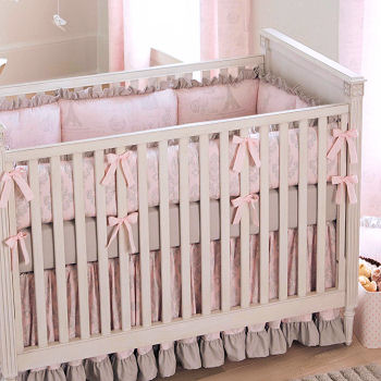 French Eiffel Tower Crib Bedding Set for a Baby Girl Paris Nursery Theme