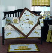 green yellow unisex girls frog baby nursery crib bedding set mobile sheets