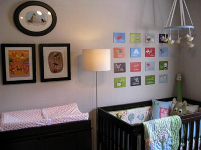 Greta's Funky Baby Nursery with Owl Decorations