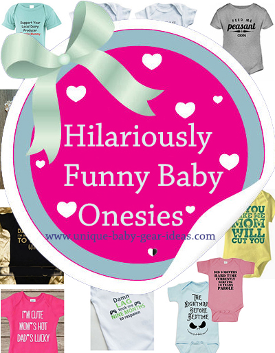 Hilarious baby onesies with hilarious sayings