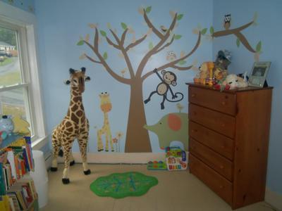 Giraffe And Safari Animal Nursery For Baby