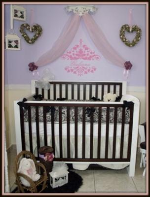 Our Baby Girl's Vintage Princess Nursery Room Decorated in Shades of Purple