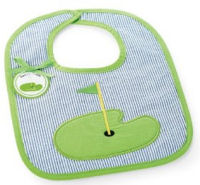 Personalized appliqued baby golf bib