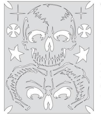Gothic skull stencil designs