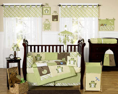 green brown baby nursery rooms bedding crib pictures