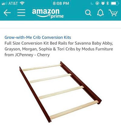 crib conversion rails kit for savanna baby abby grayson morgan sophia tori crib jc penney