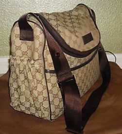 Authentic Signature Gucci baby diaper bag