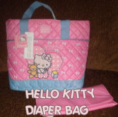 hello kitty baby diaper bag tote quilted
